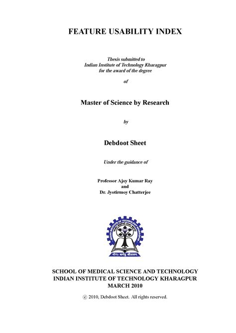 master dissertation cover master thesis