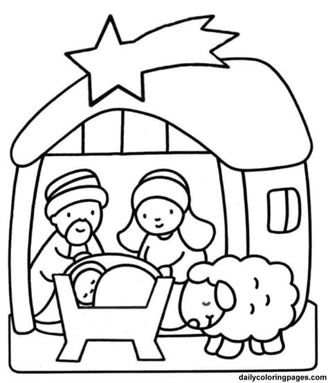 coloring pages of baby jesus az coloring pages