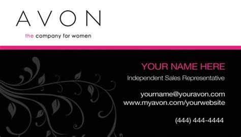 avon templates business cards avon business card design 5