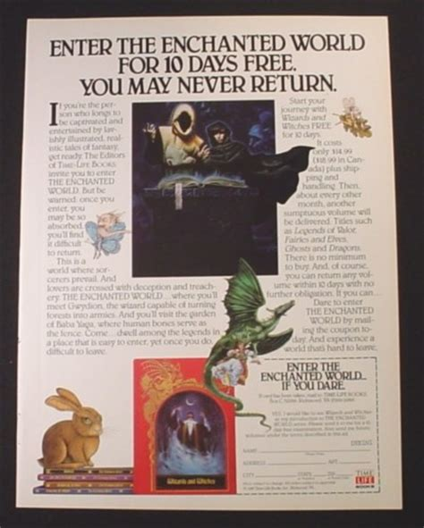 the world books magazine ad for time the enchanted world book series