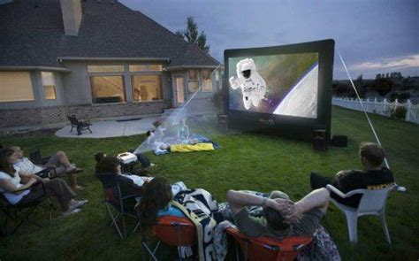 backyard projector rental open air cinema cinebox home 12x7 backyard theater system