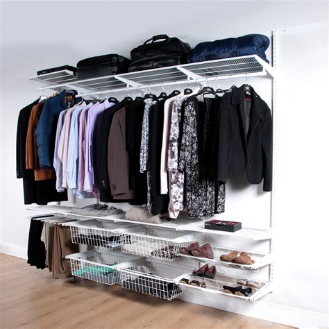 clothing storage classic white clothes storage system