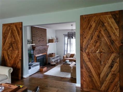 Hand Made Solid Reclaimed Wood Barn Doors Diamond Mosaic Reclaimed Wood Barn Doors