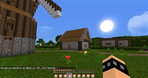 mod game farm village minecraft small farm with village and windmill v 1 4 5