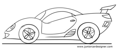 how to draw a car for toddlers junior car designer