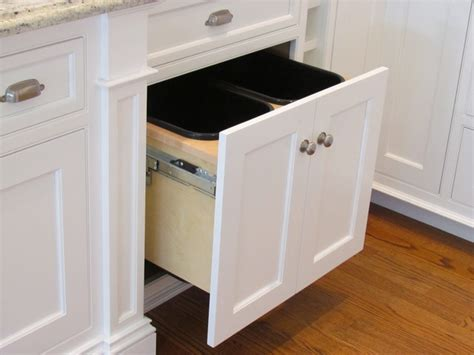 under sink double trash pull out double trash pull out traditional boston by