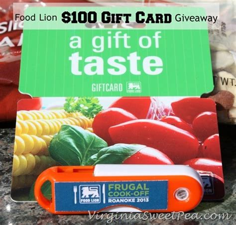 Food Lion Giveaway - food lion frugal cook off 2013 and 100 gift card giveaway sweet pea