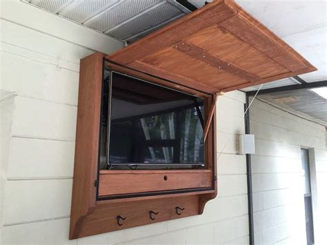 Outdoor Bar Cabinet Here Are Our Plans For An Outdoor Tv Cabinet We Built For Our Outdoor Bar It Allows Us To Hang