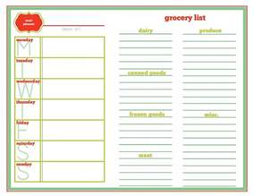cing menu planner template meal planning template so you remember what you bought