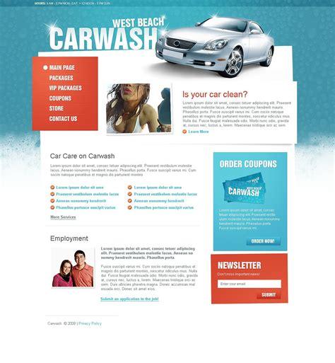 Car Wash Website Template 22408 Auto Detailing Website Templates