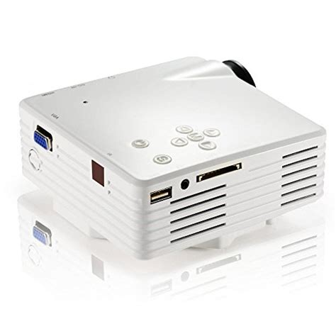 Proyektor Gp7s mengshen mini portable projector led 200 lumens 480 x 320p support hdmi sd usb rca vga audio