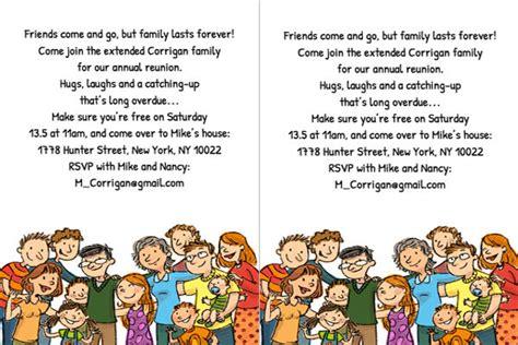 free printable family reunion invitation templates www
