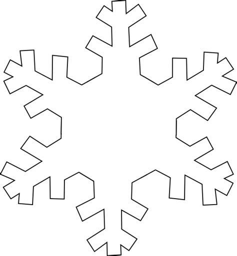 Easy Snowflake Outline by Snowflake Outline Clip At Clker Vector Clip Royalty Free Domain