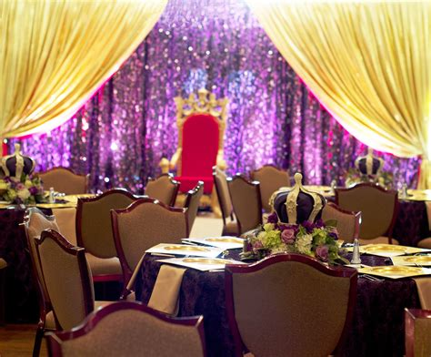 royal themed events royal throne with sparkling backdrop party decor