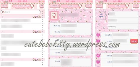 theme hello kitty ios 6 hello kitty pinky dreamworks complete theme cute bebe kitty