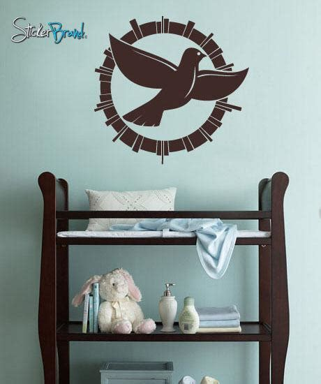 Sticker S 253 vinyl wall decal sticker peace dove 253