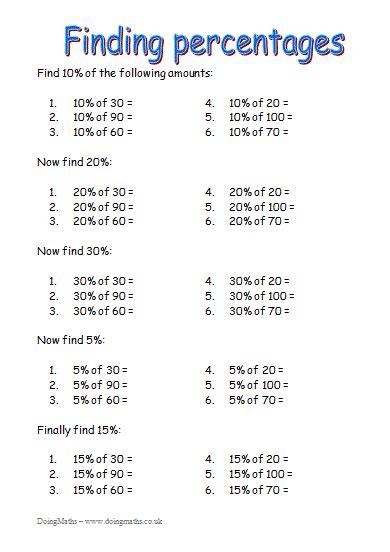 fractions decimals  percentages  resources