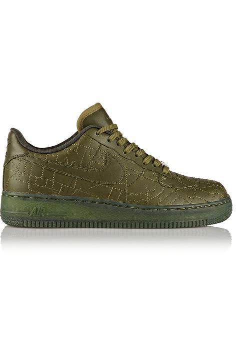 green sneakers nike lyst nike air 1 sneakers in green