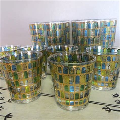 culver barware shop vintage green glassware on wanelo