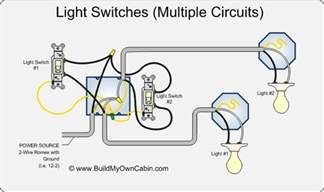 wiring multiple switches to multiple lights diagram cabin how to s pinterest light