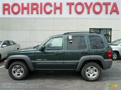 dark green jeep liberty 2003 jeep liberty sport 4x4 in shale green metallic