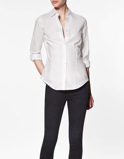 Blouse Blouse Basic White zara basic white blouse navy blouse juniors