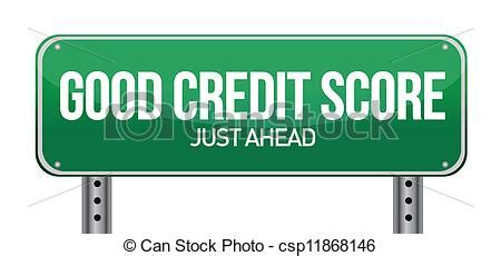 doodle free credit report eps vector of credit scores just ahead illustration