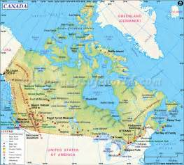 major cities canada map map of canada and usa major cities