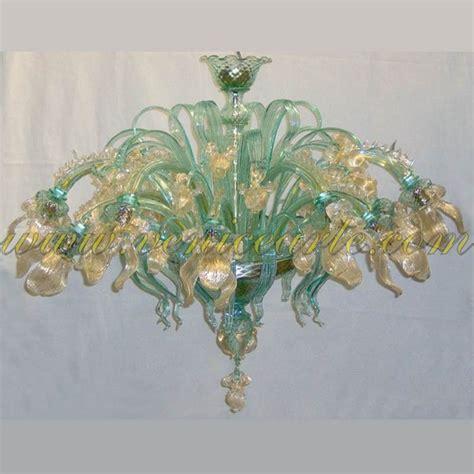 fiori in vetro di murano iris dorato ladario in vetro di murano