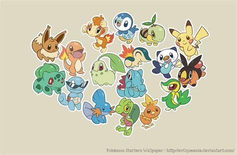 Pokemon Starters Wallpaper by EvilQueenie on DeviantArt