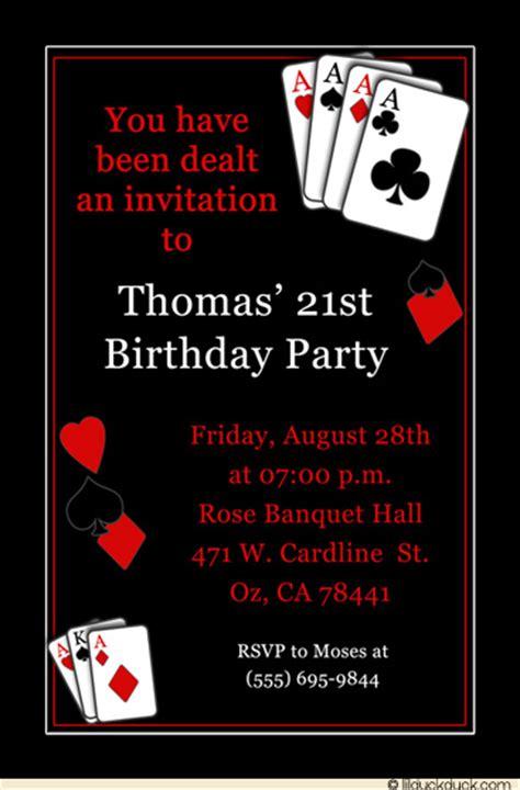 casino vegas birthday party invitation poker blackjack
