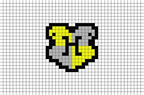 House Builder Tool hogwarts hufflepuff house crest pixel art brik