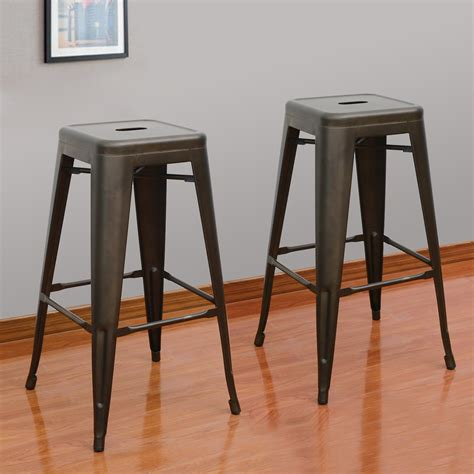 industrial style metal bar stools adeco bronze 30 inch metal tolix style industrial chic
