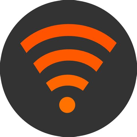 Wifi Orange wifi orange up clip at clker vector clip royalty free domain