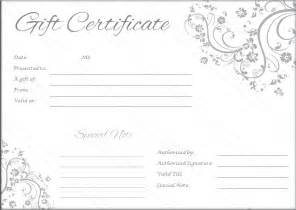 Black And White Gift Certificate Template Free by Black And White Gift Certificate Template Free Template