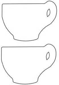 tea cup template teacup outline templates templets for cards