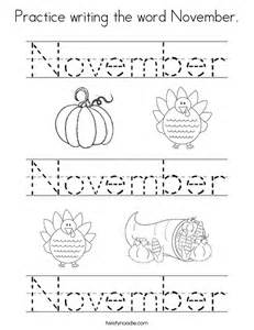 november coloring pages practice writing the word november coloring page twisty