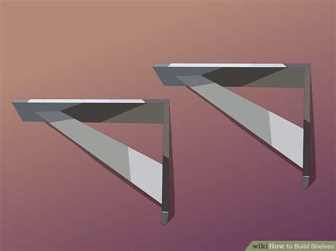 Siku Untuk Rak Dinding How To Build Shelves With Pictures Wikihow