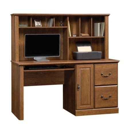 sauder orchard computer desk with hutch in milled