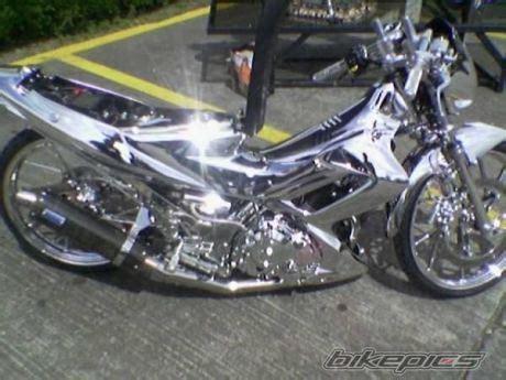 Knalpot Balap Chrome Shogun 125 kumpulan gambar motor ceper motor racing