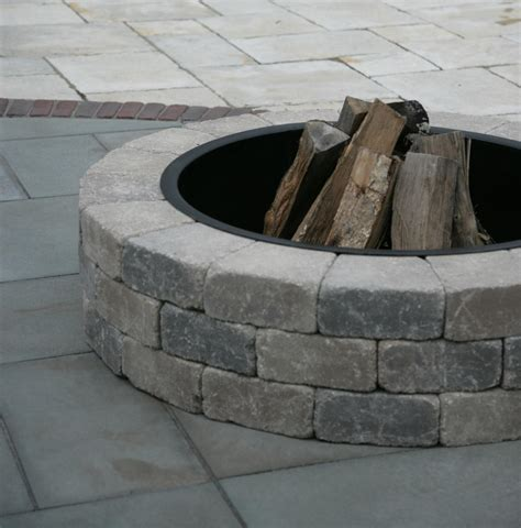 Unilock Fireplace Kits by Sunset Firepit Kit Firepits Outdoor Living Niemeyer S Landscape Supply Northwest Indiana