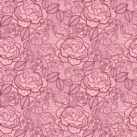 seamless pattern line art red line art flowers seamless pattern background stock