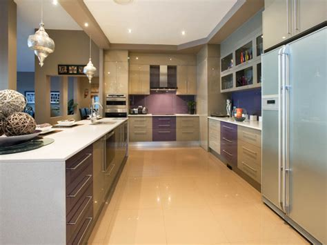 modern galley kitchen design modern galley kitchen design using tiles kitchen photo