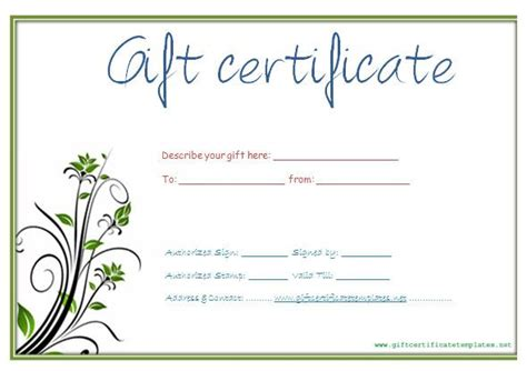 blank gift certificate template search results for blank gift certificates templates free