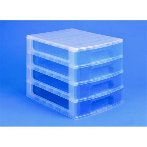 Really Useful Drawer Unit really useful box 4 x 5 l drawer unit blue staples 174