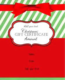 Santa Gift Certificate Template Christmas Gift Certificate Templates