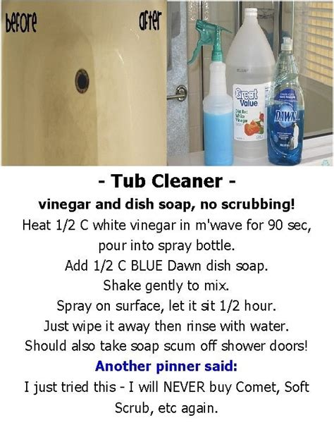 cleaning a bathtub with vinegar tub cleaner vinegar and dish soap no scrubbing