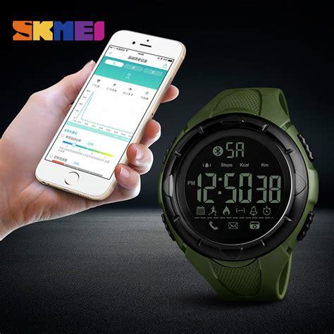 Jam Smartwatch 3 skmei jam tangan olahraga smartwatch bluetooth 1326 green jakartanotebook