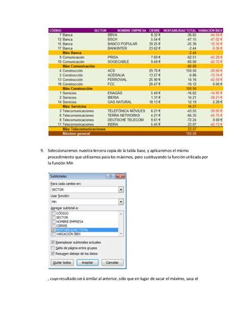 tutorial en excel 2007 tutorial para utilizar subtotales en microsoft excel 2007