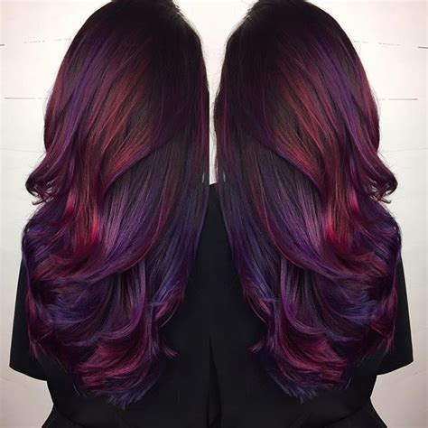 dyed hairstyles for brunettes best 25 different hair colors ideas on pinterest dyed